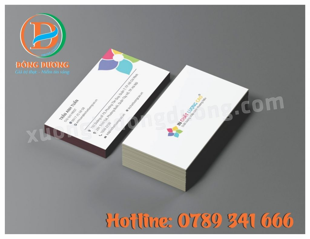 in card visit lay ngay tai Ha Dong