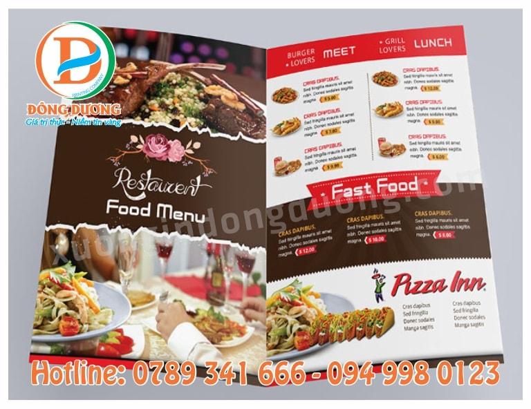 in menu nha hang